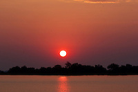 Sunrise over the Okavango Delta in Botswana