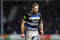 Dominic Day of Bath Rugby looks on. Aviva Premiership match, between Gloucester Rugby and Bath Rugby on March 26, 2016 at Kingsholm Stadium in Gloucester, England. Photo by: Patrick Khachfe / Onside Images