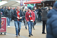 Arsenal fan's arrive during West Ham United vs Arsenal, Premier League Football at The London Stadium on 12th January 2019