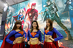 Booth assistants pose for a photograph during the Tokyo Comic Con 2017 at Makuhari Messe International Exhibition Hall on December 1, 2017, Tokyo, Japan. This is the second year that San Diego Comic-Con International held the event in Japan. Tokyo Comic Con runs from December 1 to 3. (Photo by Rodrigo Reyes Marin/AFLO)