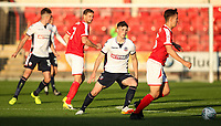 Bolton Wanderers' Jack Earing prepares to take on Crewe Alexandra's Ryan Wintle <br /> <br /> Photographer Andrew Kearns/CameraSport<br /> <br /> The Carabao Cup - Crewe Alexandra v Bolton Wanderers - Wednesday 9th August 2017 - Alexandra Stadium - Crewe<br />  <br /> World Copyright &copy; 2017 CameraSport. All rights reserved. 43 Linden Ave. Countesthorpe. Leicester. England. LE8 5PG - Tel: +44 (0) 116 277 4147 - admin@camerasport.com - www.camerasport.com