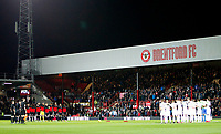 Leeds United FC and Brentford FC honour the war veterans during the Sky Bet Championship match between Brentford and Leeds United at Griffin Park, London, England on 4 November 2017. Photo by Carlton Myrie.