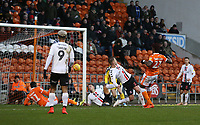 Blackpool's Armand Gnanduillet scores the opening goal <br /> <br /> Photographer Stephen White/CameraSport<br /> <br /> The EFL Sky Bet League One - Blackpool v Charlton Athletic - Saturday 8th December 2018 - Bloomfield Road - Blackpool<br /> <br /> World Copyright &copy; 2018 CameraSport. All rights reserved. 43 Linden Ave. Countesthorpe. Leicester. England. LE8 5PG - Tel: +44 (0) 116 277 4147 - admin@camerasport.com - www.camerasport.com