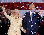 (Boston, MA, 06/25/13) Ed Markey and his wife Susan J. Blumenthal celebrate his U.S Senate special election victory at the Park Plaza Hotel on Tuesday, June 25, 2013. Staff photo by Christopher Evans