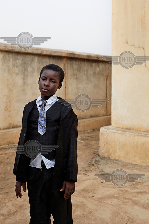 A portrait of a boy at a school in Bambougou.