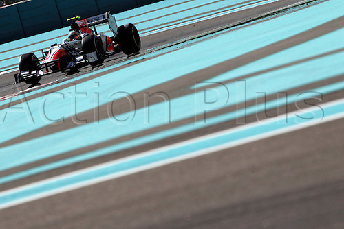11.11.2011 Abu Dhabi, United Arab Emirates.  Motorsports: FIA Formula One World Championship 2011, Grand Prix of Abu Dhabi, 23 Vitantonio Liuzzi (ITA, HRT F1 Team),during the practice day of the FIA Formula One Grand Prix of Abu Dhabi UAE.