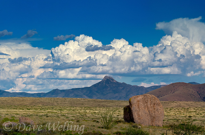 768590012 afternoon monsoon cloud formations over cookes peak seen from city of rocks state park new mexico