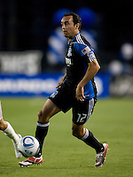Ramiro Corrales of Earthquakes in action during the game against the Real Salt Lake at Buck Shaw Stadium in Santa Clara, California on March 27th, 2010.   Real Salt Lake defeated San Jose Earthquakes, 3-0.