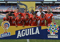 CALI - COLOMBIA, 17-08-2019: Jugadores del América posan para una foto previo al partido por la fecha 6 de la Liga Águila II 2019 entre América de Cali y Rionegro Águilas jugado en el estadio Pascual Guerrero de la ciudad de Cali. / Players of America pose to a photo prior match for the date 6 as part of Aguila League II 2019 between America de Cali and Rionegro Aguilas played at Pascual Guerrero stadium in Cali. Photo: VizzorImage / Gabriel Aponte / Staff