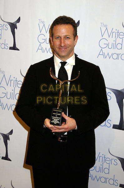 MIKE SCHWARTZ .The Writers Guild of America West Awards held at the Hyatt Regency Century Plaza Hotel, Century City, California, USA. .February 11th, 2007.half length black award trophy suit jacket .CAP/ADM/GB.©Gary Boas/AdMedia/Capital Pictures
