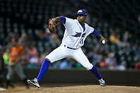 Winston-Salem Dash relief pitcher Andre Wheeler (11) in action against the Buies Creek Astros at BB&T Ballpark on April 15, 2017 in Winston-Salem, North Carolina.  The Astros defeated the Dash 13-6.  (Brian Westerholt/Four Seam Images)