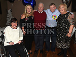 Eddie Gilligan celebrating his 40th birthday with parents Seamus and Bridie and sisters Kate and Rosaleen in Whytes of Stamullen. Photo:Colin Bell/pressphotos.ie