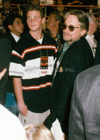 Michael Douglas & Cameron (son) 1997<br /> Photo By John Barrett-PHOTOlink.net / MediaPunch
