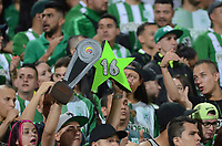 MEDELLÍN - COLOMBIA - 18 - 06 - 2017: Hinchas de Atletico Nacional, animan a su equipo, durante partido de vuelta, de la final entre Atletico Nacional y Deportivo Cali, por la Liga Águila I 2017, jugado en el estadio Atanasio Girardot de la ciudad de Medellín. / Fans of Atletico Nacional, cheer for their team, during a match of the second leg of the final between Atletico Nacional and Deportivo Independiente Medellin for the Aguila League I 2017, played at Atanasio Girardot stadium in Medellin city. Photo: VizzorImage / León Monsalve / Cont.