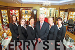 Staff at Hilsers Jewellers Tralee from left Elaine O'Donoghue, Ciara Murphy, Ciara Nolan, Billy Nolan, Louise Nolan and Abina Laide.