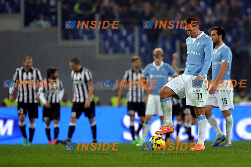 Delusione di Miroslav Klose Lazio.<br /> Roma 22-11-2014 Stadio Olimpico. Football Calcio 2014/2015 Serie A. Lazio - Juventus. Foto Antonietta Baldassarre / Insidefoto