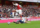 16/04/2018 Arsenal v Blackpool FAYC Semi 2L<br /> <br /> Jack Newton tackles Dominic Thompson