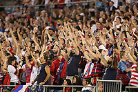 CHARLOTTE, NC - OCTOBER 03: Fans of the United States during a game between USA and Korea Republic at Bank of American Stadium, on October 03, 2019 in Charlotte, NC.