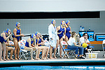 INDIANAPOLIS, IN - MAY 14: The UCLA women's water polo team cheers during the Division I Women's Water Polo Championship held at the IU Natatorium-IUPUI Campus on May 14, 2017 in Indianapolis, Indiana. Stanford edges UCLA, 8-7, to win fifth women's water polo title in the past seven years. (Photo by Joe Robbins/NCAA Photos/NCAA Photos via Getty Images)
