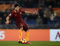 Calcio, Serie A: Roma vs ChievoVerona. Roma, stadio Olimpico, 22 settembre 2016.<br /> Roma&rsquo;s Diego Perotti kicks to score on a penalty during the Italian Serie A football match between Roma and Chievo Verona, at Rome's Olympic stadium, 22 December 2016.<br /> UPDATE IMAGES PRESS/Isabella Bonotto