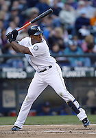 04 October 2009: Seattle Mariners third baseman #29 Adrian Beltre gets set in the batters box against the Texas Rangers. Seattle won 4-3 over the Texas Rangers at Safeco Field in Seattle, Washington.