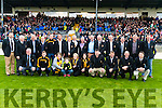 Dr Crokes 1991 team county final winning team who were honoured at half time of the Senior County Football Championship final at Fitzgerald Stadium on Sunday.<br /> Included are: Pat O'Shea, Denis Coleman (2016 Chairman), Eddie Tatler O'Sullivan (Trainer), Sean O'Shea (Captain), Mike Neeson (1992 Chairman), Connie O'Doherty, Patrick Tatler O'Sullivan (Kerry County Board Chairman), Teddy Counihan (1991 Chairman), Tadhg Fleming (Selector), Colm O'Shea, Sean Clarke, Danny Cooper, Peter O'Brien, Ger O'Shea, Brendan Keogh, Liam Hartnett, Donie O'Leary (Selector), John Galvin, John Clifford, Martin Byrnes, Noel O'Leary, Mike Buckley, Vince Casey, Roland Neher and Connie Murphy.