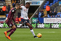 Bolton Wanderers' Sammy Ameobi shoots at goal <br /> <br /> Photographer Andrew Kearns/CameraSport<br /> <br /> The EFL Sky Bet Championship - Bolton Wanderers v Swansea City - Saturday 10th November 2018 - University of Bolton Stadium - Bolton<br /> <br /> World Copyright © 2018 CameraSport. All rights reserved. 43 Linden Ave. Countesthorpe. Leicester. England. LE8 5PG - Tel: +44 (0) 116 277 4147 - admin@camerasport.com - www.camerasport.com