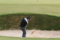 Ricardo Gouveia (POR) in a bunker on the 2nd during Round 1 of the Dubai Duty Free Irish Open at Ballyliffin Golf Club, Donegal on Thursday 5th July 2018.<br /> Picture:  Thos Caffrey / Golffile