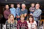 The Barry and Culloty families enjoying the evening out in the Kingdom Greyhound Track on Friday night last. <br /> Seated l-r, Jennifer and Mary Ellen Barry and Violet Culloty.<br /> Standing l-r, Colm, Cona&iacute;n, Killian, Sean and Oisin Barry and Mike Culloty.