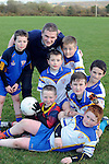 Pictured at the launch of 'Sam to the Summit' which will take place on May 16th 2014 at Keel GAA field in County Kerry on Thursday night were lKeel Captain Martin Burke with stars of the future, DJ O'Mahony, Evan O'Connor, Mark Murphy, Luke Benson, Paul Costelloe and Eden Murphy.<br /> Picture by Don MacMonagle