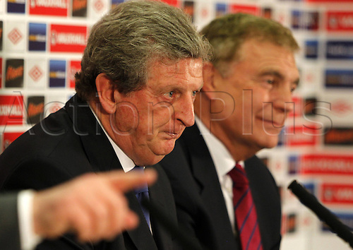 02.05.2012 Wembley, London. Roy Hodgson is unveiled as the new England manager during a press conference at Wembley Stadium.