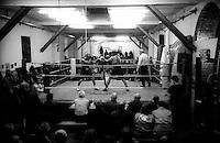 Roma  .Incontro  di boxe dilettanti alla Palestra Popolare San Lorenzo.