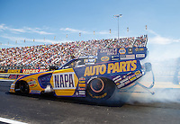 Sep 4, 2016; Clermont, IN, USA; NHRA funny car driver Ron Capps during qualifying for the US Nationals at Lucas Oil Raceway. Mandatory Credit: Mark J. Rebilas-USA TODAY Sports