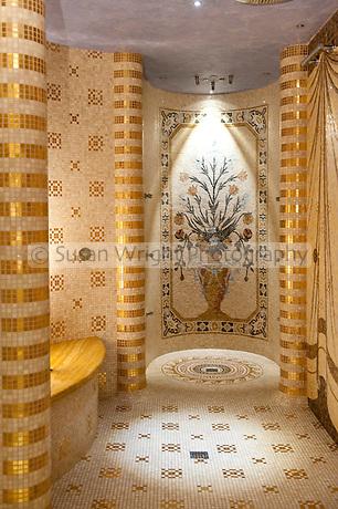 Aromatherapy showers in the Villa Palazzo Aminta Hotel spa, Stresa, Lago Maggiore, Italy