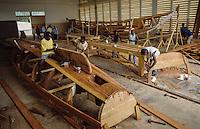 Carpenters building  fishing vessels