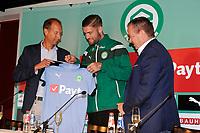 GRONINGEN - Voetbal, Presentatie Lars Veldwijk, Noordleasestadion , seizoen 2017-2018,  12-07-2017, Peter Jeltema, Hans Nijland, Lars Veldwijk