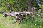 Old Wooden Farm Wagon Resting on the Island of Kökar
