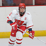 MADISON, WI - SEPTEMBER 29: Bobbi-Jo Slusar 10 of the Wisconsin Badgers women's hockey team skates during warmups prior to the game against the Quinnipiac Bobcats at the Kohl Center on September 29, 2006 in Madison, Wisconsin. The Badgers beat the Bobcats 3-0. (Photo by David Stluka)