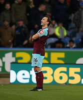 West Ham United's Mark Noble celebrates scoring his side's first goal <br /> <br /> Photographer Rob Newell/CameraSport<br /> <br /> The Premier League - Huddersfield Town v West Ham United - Saturday 13th January 2018 - John Smith's Stadium - Huddersfield<br /> <br /> World Copyright &copy; 2018 CameraSport. All rights reserved. 43 Linden Ave. Countesthorpe. Leicester. England. LE8 5PG - Tel: +44 (0) 116 277 4147 - admin@camerasport.com - www.camerasport.com