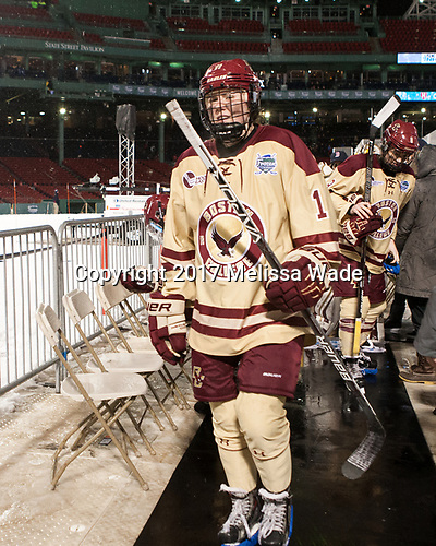 Caitrin Lonergan (BC - 11) - The Boston College Eagles defeated the Harvard University Crimson 3-1 on Tuesday, January 10, 2017, at Fenway Park in Boston, Massachusetts.The Boston College Eagles defeated the Harvard University Crimson 3-1 on Tuesday, January 10, 2017, at Fenway Park.