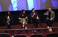 """LOS ANGELES - JANUARY 9: Saniyya Sidney, Executive Producer Liz Heldens, author Justin Cronin and moderator Danny Feekes attend an advanced screening and Q&A of FOX's """"The Passage"""" at the AMC Century City 15 on January 9, 2019, in Los Angeles, California. (Photo by Frank Micelotta/Fox/PictureGroup)"""