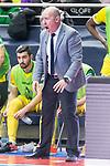 Jaen P. Interior coach Daniel Rodriguez Martinez during Finals Futsal Spanish Cup 2018 at Wizink Center in Madrid , Spain. March 18, 2018. (ALTERPHOTOS/Borja B.Hojas)