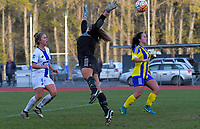 Action from the Kate Sheppard Cup women's football match between University and Coastal Spirit at Caledonian Ground in Dunedin, New Zealand on Saturday, 23 June 2018. Photo: Dave Lintott / lintottphoto.co.nz