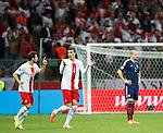 Alan Hutton dejection as Poland score the opener