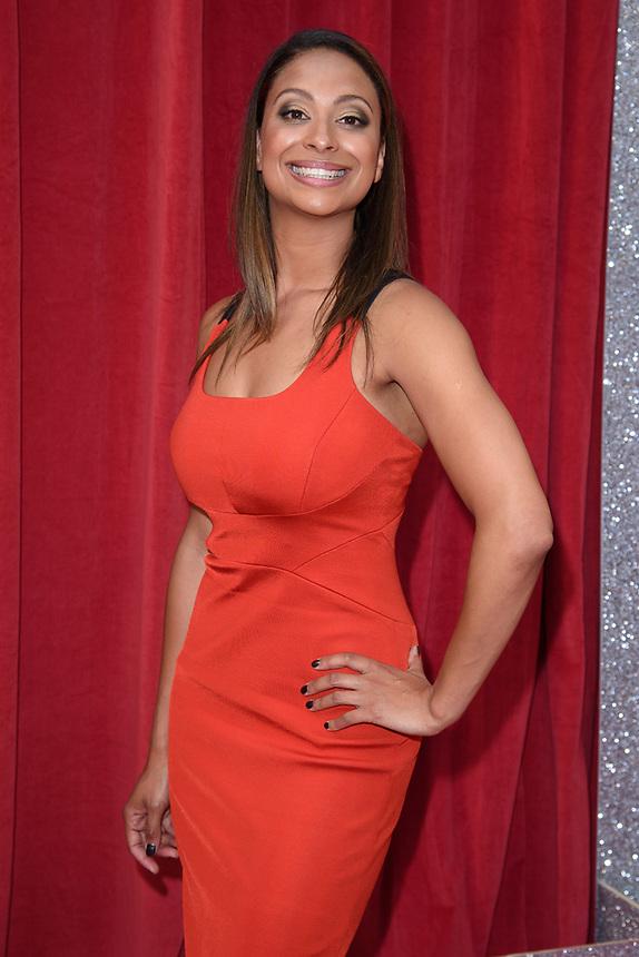 Laura Rollins<br /> arriving for the British Soap Awards 2018 at the Hackney Empire, London<br /> <br /> ©Ash Knotek  D3405  02/06/2018