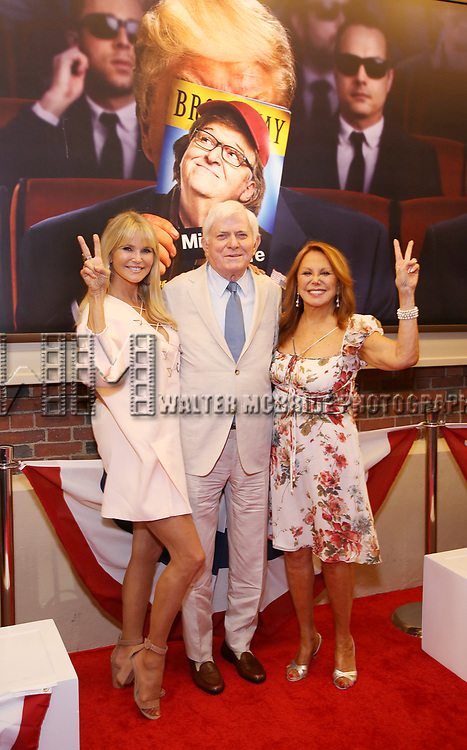 Christie Brinkley, Phil Donahue and Marlo Thomas attends the Broadway Opening Night Performance for 'Michael Moore on Broadway' at the Belasco Theatre on August 10, 2017 in New York City.
