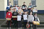 Winners of the Playground Design Competition with their prises.  Junior Infants - Donnchadh Rooney,   Senior Infants - Erin Brock,   1st Class - Max Crinion,   2nd Class - Gearoid Campbell, Jack Browne and Bryan Carpenter,   3rd Class -  Karl Caffrey,   4th Class - Cian O'Brien,   5th and 6th Class - Matthews Bell, Louis Moran and Ben Pentony-Timmons..Photo NEWSFILE/Jenny Matthews.(Photo credit should read Jenny Matthews/NEWSFILE)....This Picture has been sent you under the condtions enclosed by:.Newsfile Ltd..The Studio,.Millmount Abbey,.Drogheda,.Co Meath..Ireland..Tel: +353(0)41-9871240.Fax: +353(0)41-9871260.GSM: +353(0)86-2500958.email: pictures@newsfile.ie.www.newsfile.ie.FTP: 193.120.102.198.