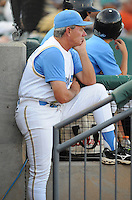 July 7, 2008: Manager Rocket Wheeler (18) of the Myrtle Beach Pelicans, Class A affiliate of the Atlanta Braves, in a game against the Wilmington Blue Rocks at BB&T Coastal Field in Myrtle Beach, S.C. Photo by:  Tom Priddy/Four Seam Image