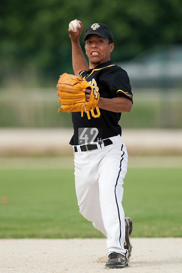 21 May 2009: Rodrigo Rodriguez of Clermont-Ferrand throws the ball during the 2009 challenge de France, a tournament with the best French baseball teams - all eight elite league clubs - to determine a spot in the European Cup next year, at Montpellier, France.
