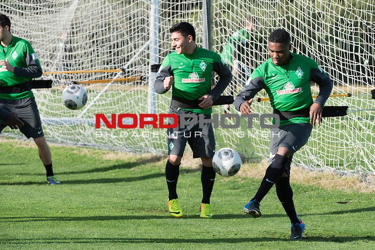 Trainingsgel&auml;nde, Jerez, ESP, 1.FBL, Trainingslager Werder Bremen 2014,  08.01.2014, <br /> <br /> C&eacute;dric Makiadi (Bremen #6)<br /> <br /> Foto &copy; nordphoto/ Kokenge